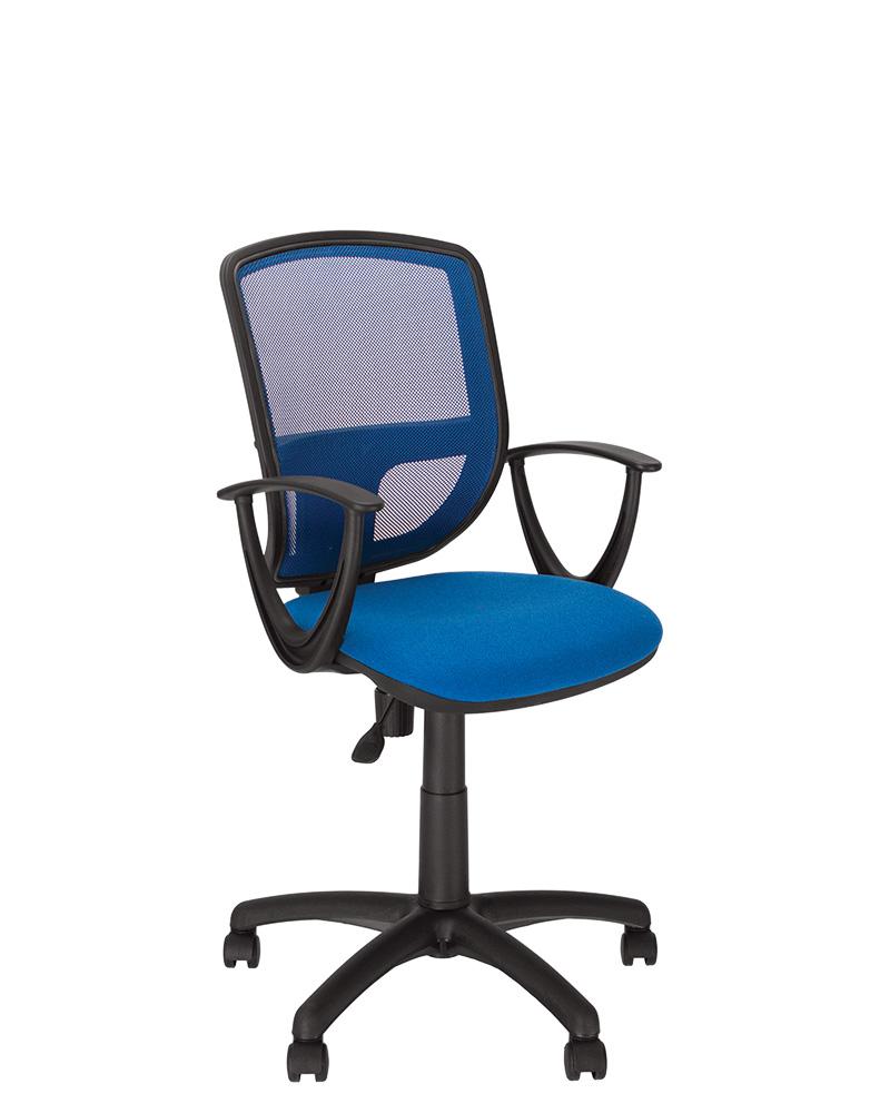 Кресло для пересонала с сетчатой спинкой