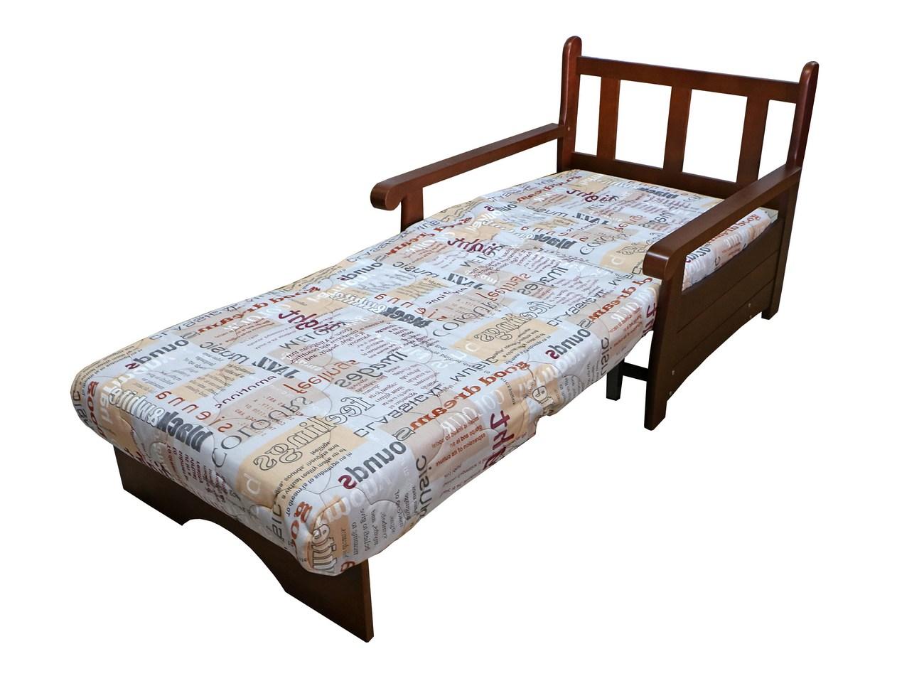 Кресло кровать массив в разложенном виде