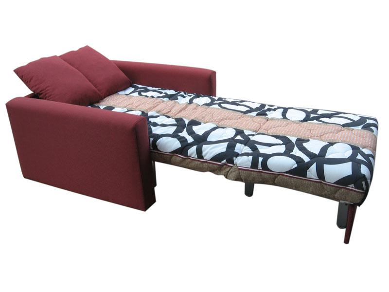 Кресло кровать с прямыми боковинами