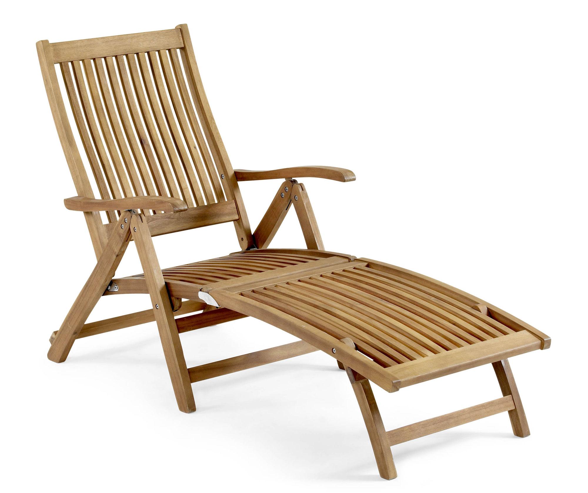 Кресло лежак деревянный подкатной