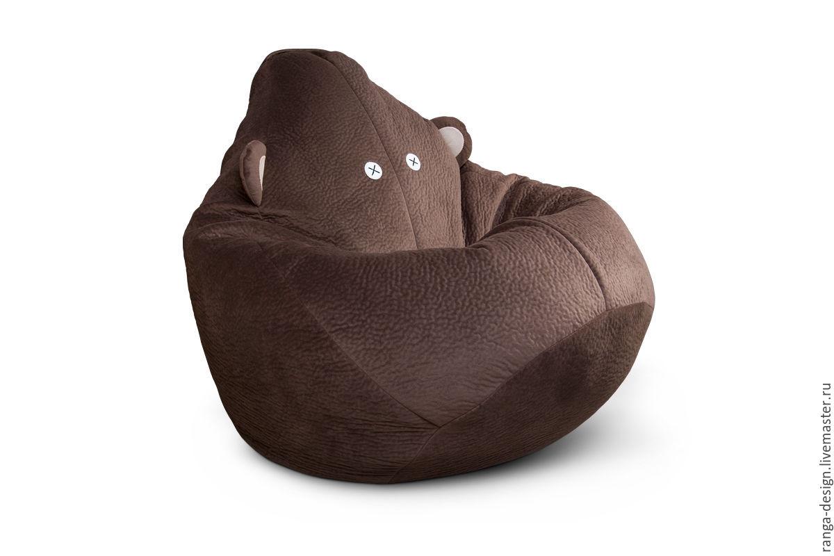 Кресло мешок с ушами для детей