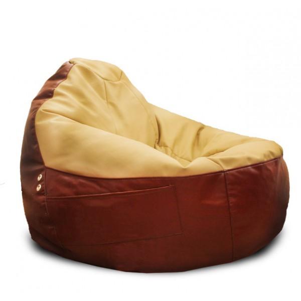 Кресло пуфик кожаное
