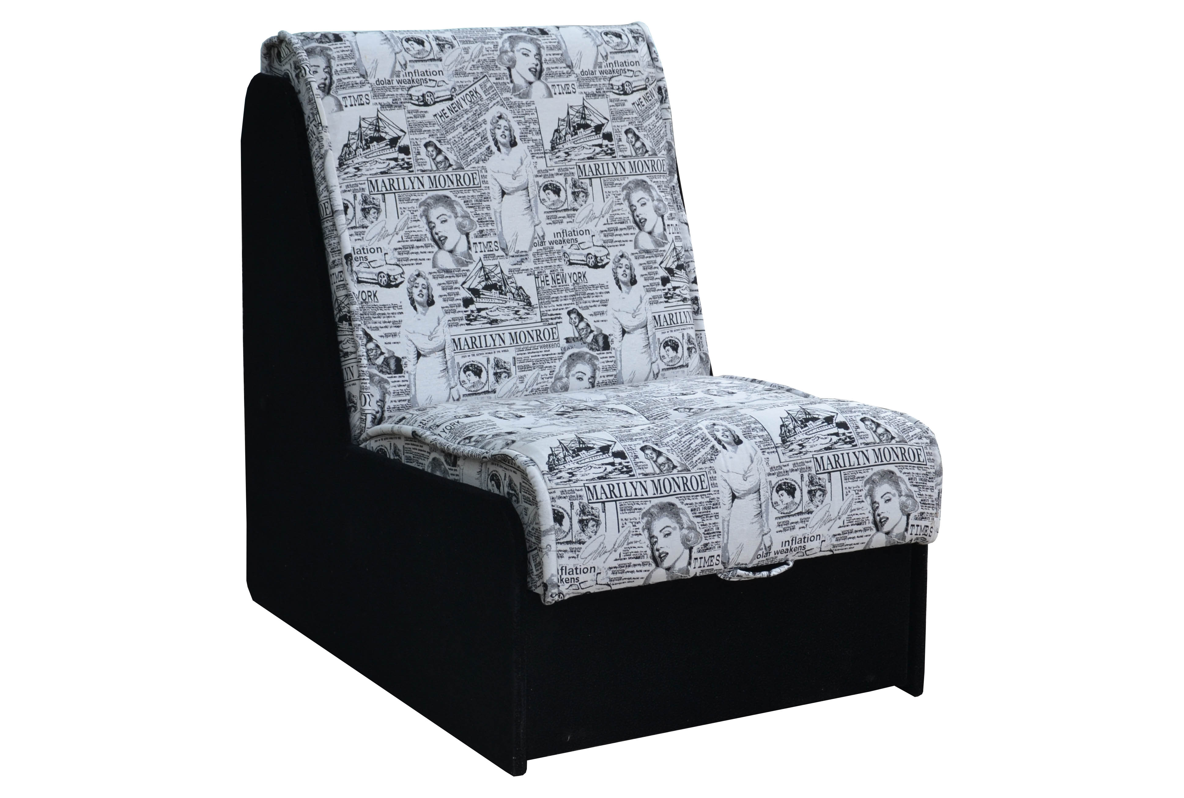 Кресло с обивкой газета