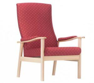 Кресло с высокой спинкой и подлокотниками