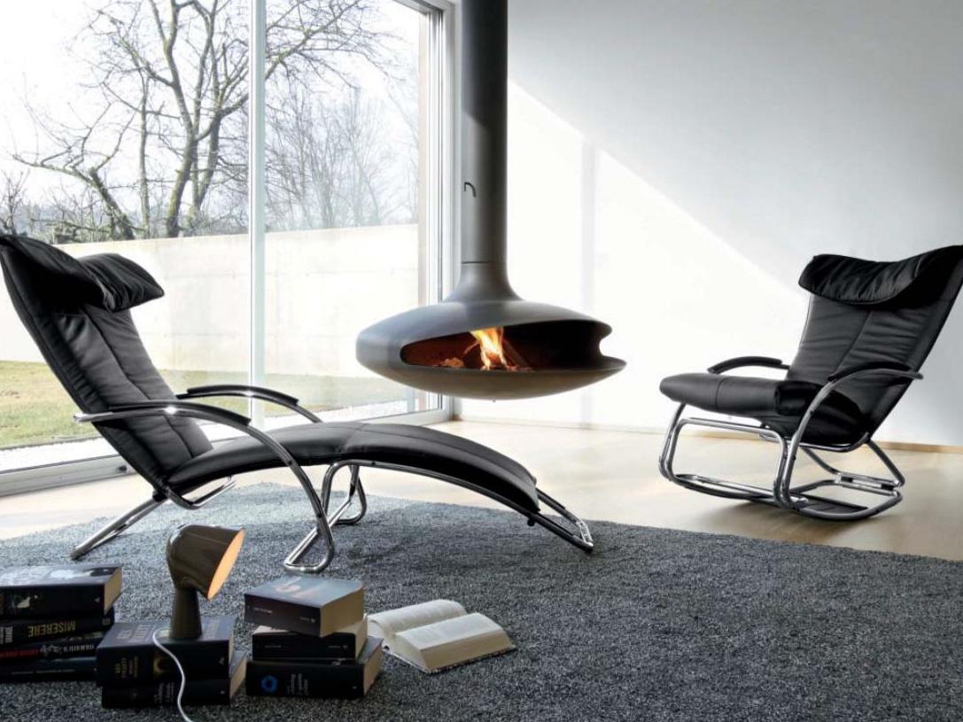 Кресло шезлонг в современном интерьере