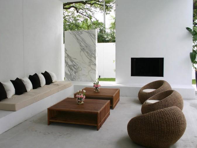 Круглые кресла в современном интерьере