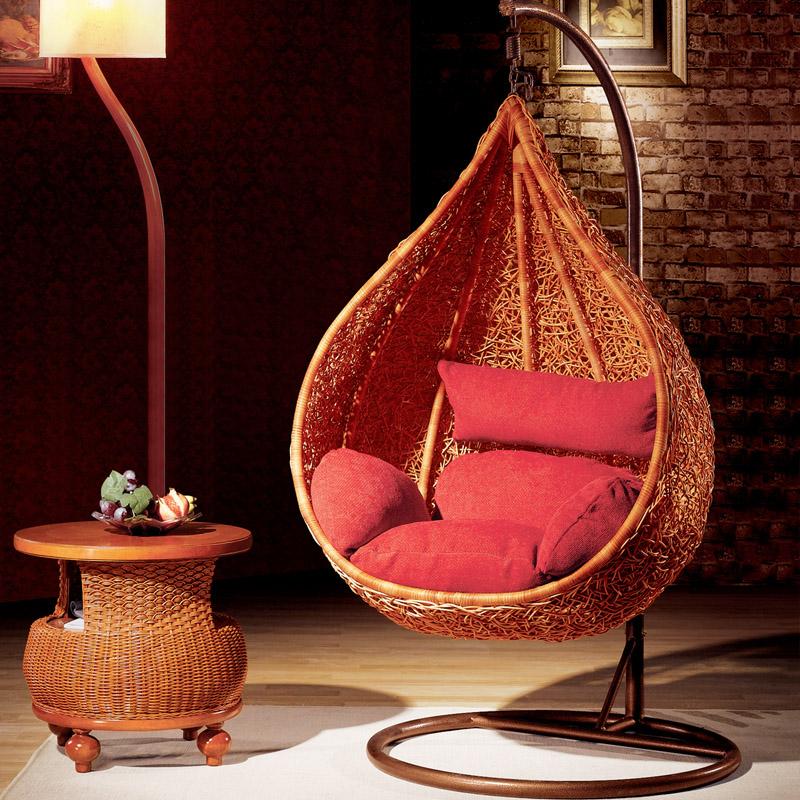Мебель качалка ротанга качели висит в помещении
