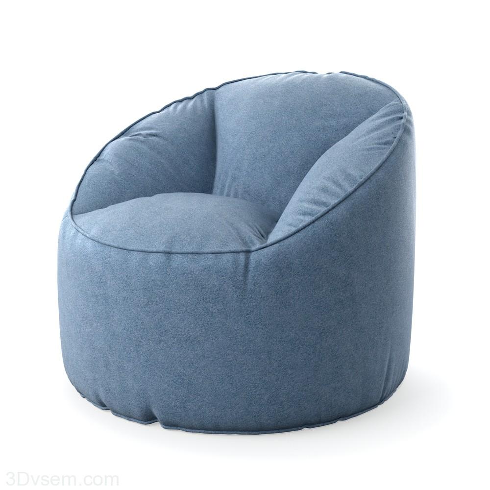 Модель кресла пуфа