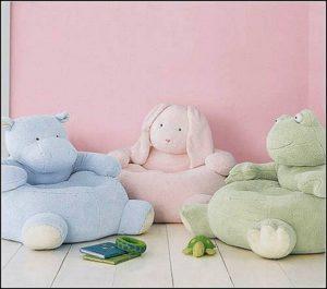 Мягкие детские кресла в виде зверушек