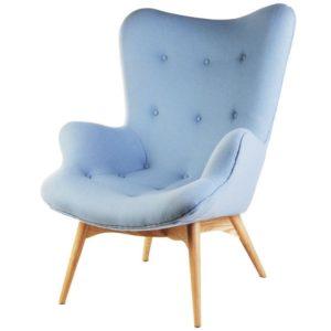 Мягкое кресло в голубом цвете