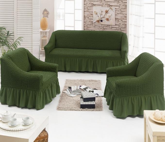 Набор чехлов диван и 2 кресла