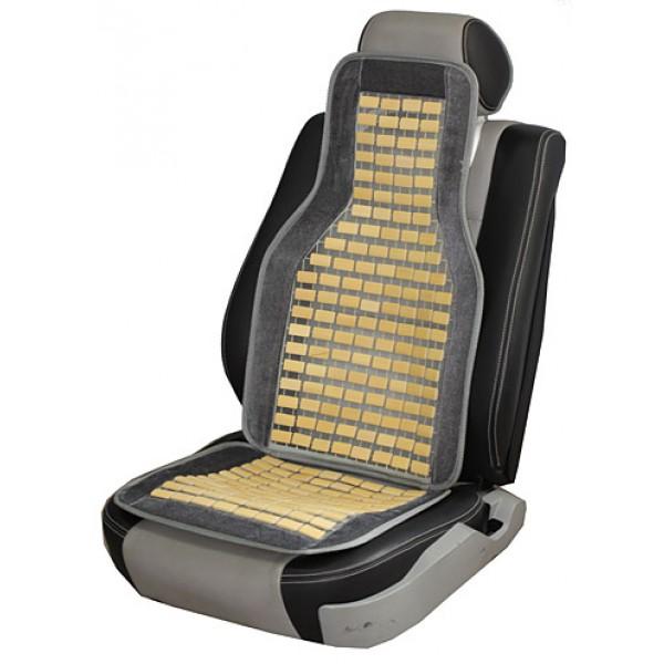 Накидка на сиденье с деревянными элементами