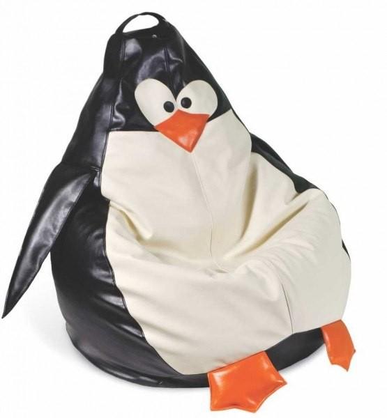Оригинальное кресло мешок в виде пингвина