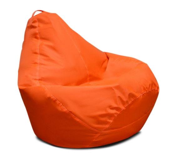 Популярное оранжевое кресло мешок груша