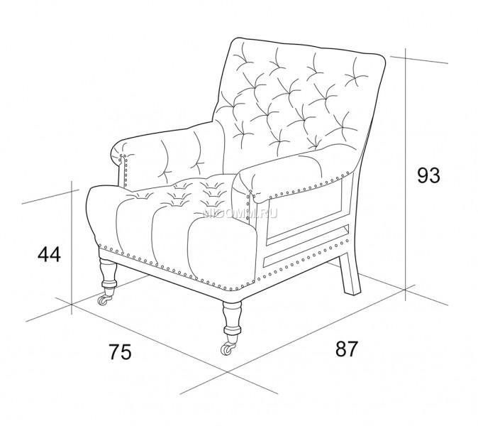 Размеры мягкого кресла