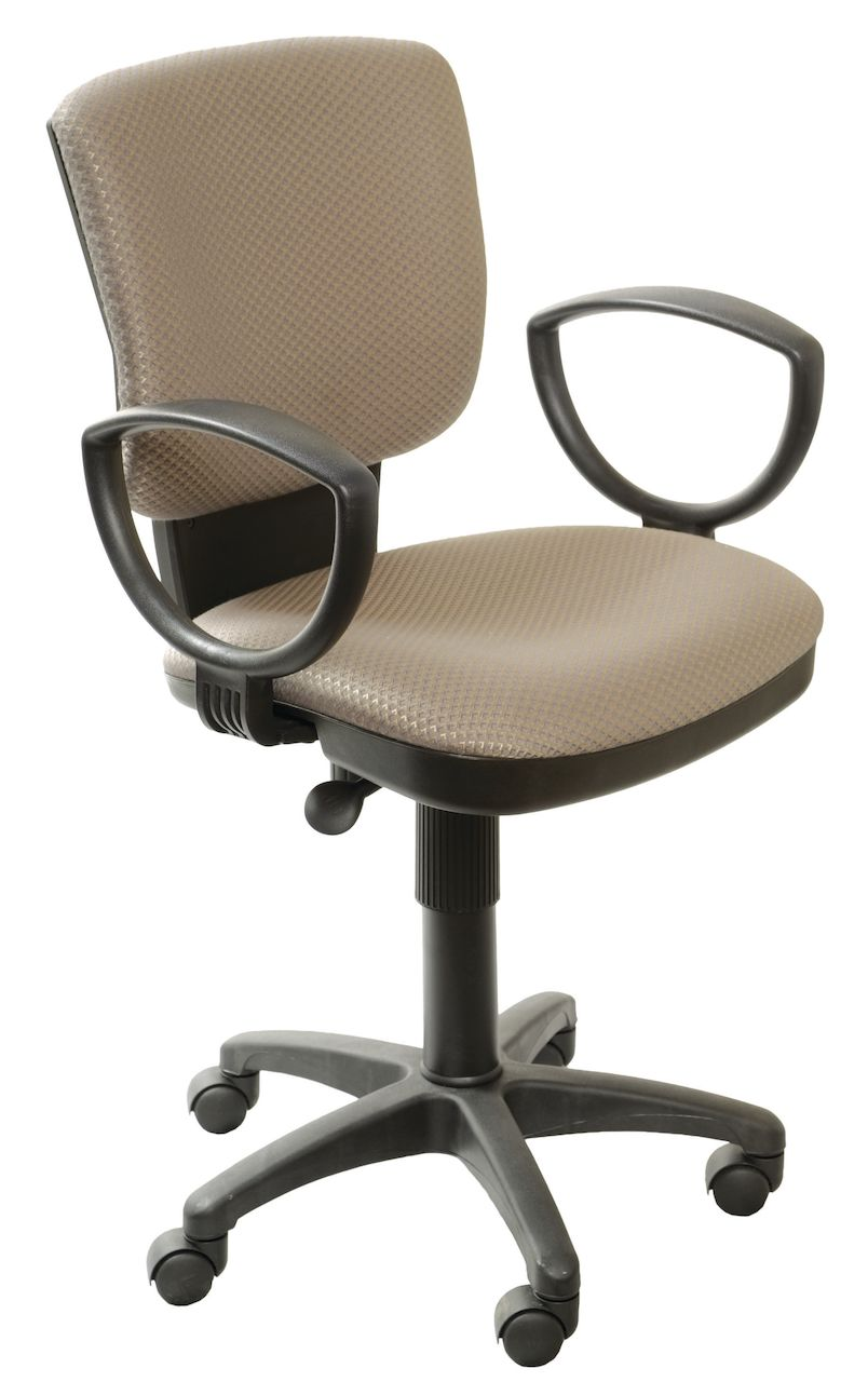 Серое офисное кресло