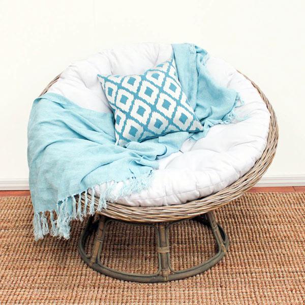 Кресло Papasan (50 фото качалка из ротанга и подушка для нее) 78