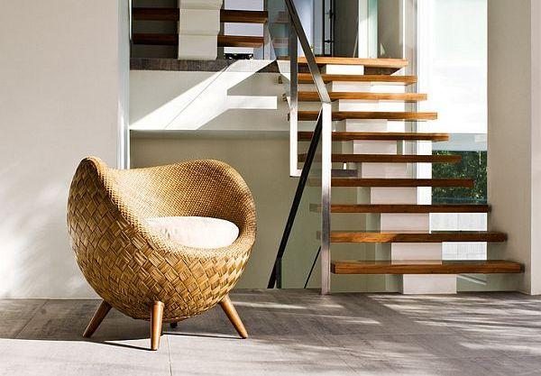 Удивительныe кресла из ротанга