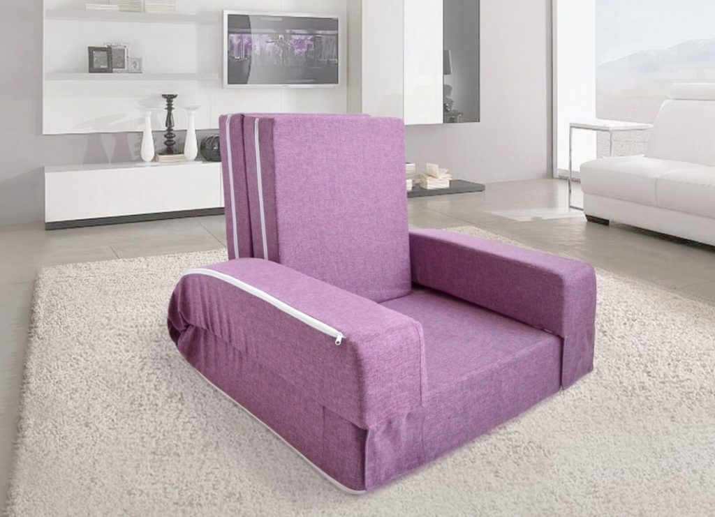 Вариант кресла, раскладывающегося в полноценное спальное место