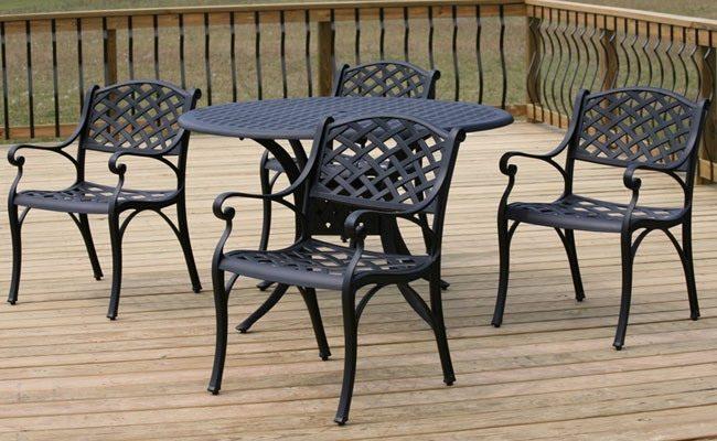 Алюминиевое темное кресло на основе алюминия