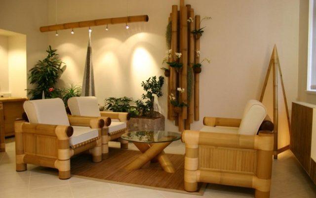 Бамбуковое кресло, созданное в оригинальном дизайне