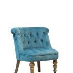 Бархатное бирюзовое кресло