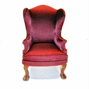 Бархатное кресло в красивом бордовом цвете