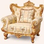 Барокко кресло в золотом цвете