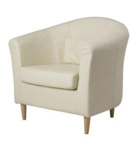 Белое кресло для обустройства