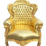 Блестящее яркое желтое кресло