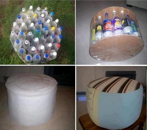 Бутылки для изготовления кресел