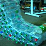Бутылки пластиковые для изготовления кресла