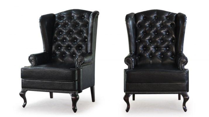 Черный цвет стильного кресла