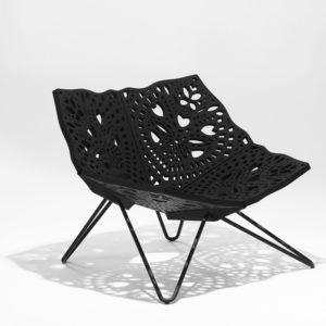 Чудесное металлическое кресло
