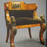Декоративное кресло на бронзовой основе