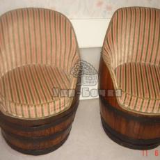 Деревянная бочка для изготовления кресла