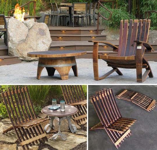 Деревянная бочка для создания практичного кресла
