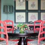 Дизайн кресла в коралловом цвете