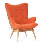 Дизайн кресла в оранжевом цвете