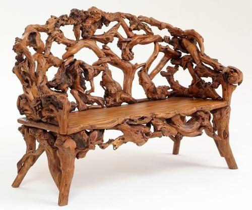 Дизайнерское кресло, созданное из коряги
