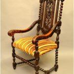 Дубовое оригинальное кресло