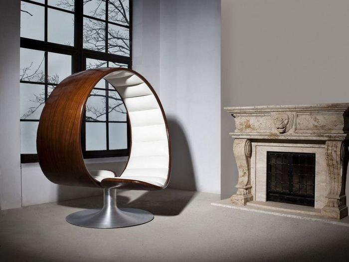 Двуместное кресло, созданное из коряги