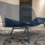 Интерьерное красивое сетчатое кресло