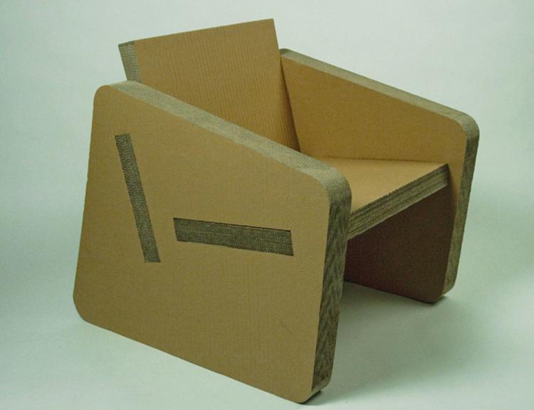 Изготовление своими руками кресла на основе картона