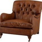 Изящность и богатство коричневого кресла