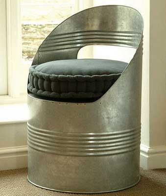 Как использовать бочку для изготовления кресла