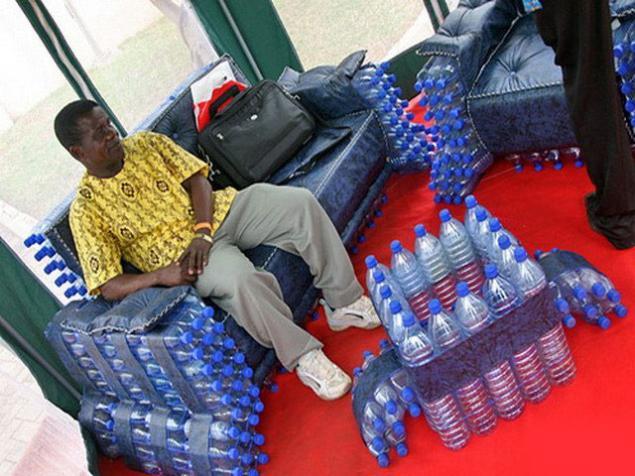 Как использовать кресла на основе бутылок