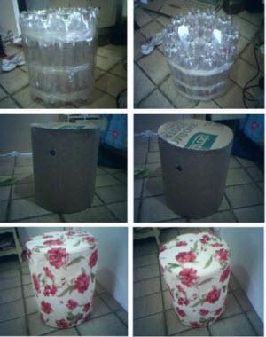 Как превратить пластиковые бутылки на удобное кресло