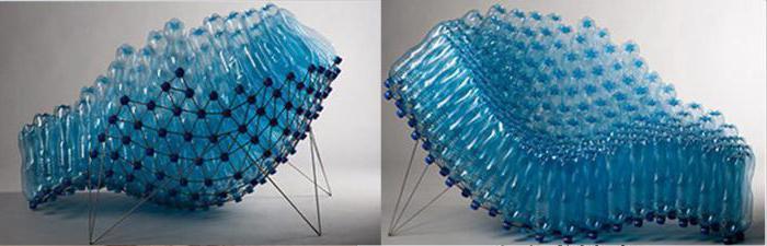 Как применять пластиковые бутылки для изготовления кресла