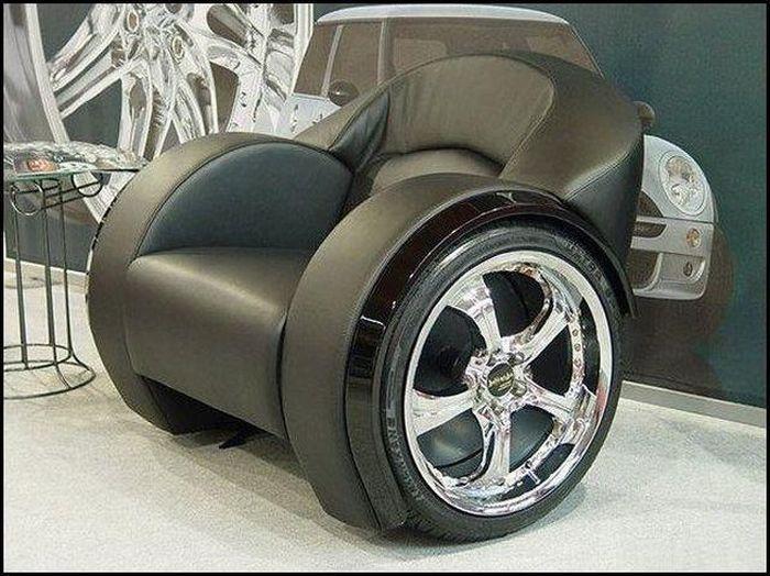 Как сделать оригинальное кресло из колес